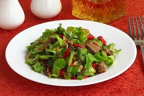 Рецепты салата из куриной печени с