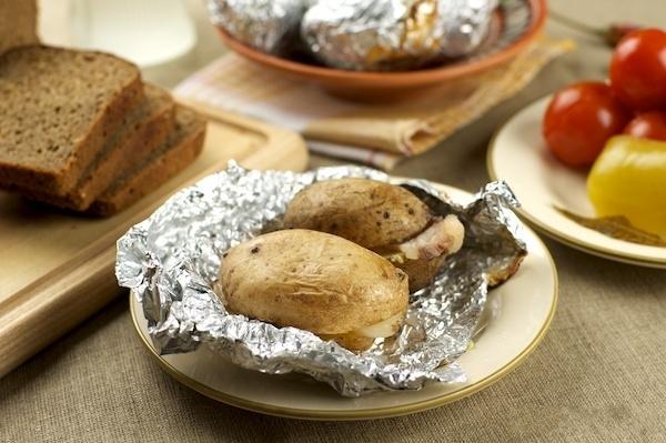 картошка с салом в духовке в фольге рецепт с фото