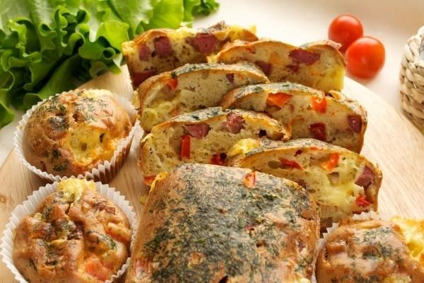 Кексы с колбасой рецепт с фото