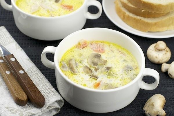 Рецепт грибной суп пюре из шампиньонов со сливками рецепт с пошагово