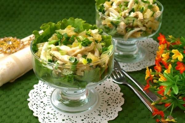 кальмаром салат