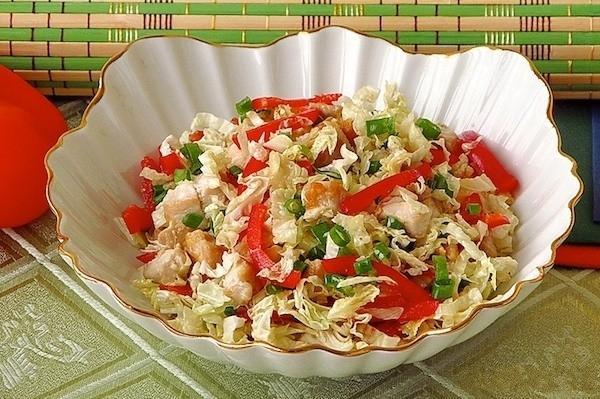 Фото-рецепт салата из пекинской капусты