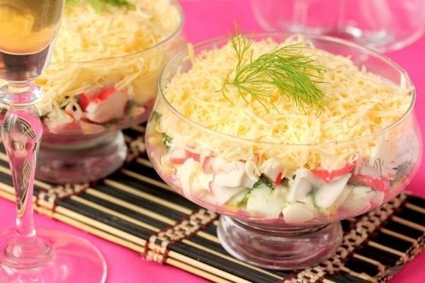 В креманках салаты