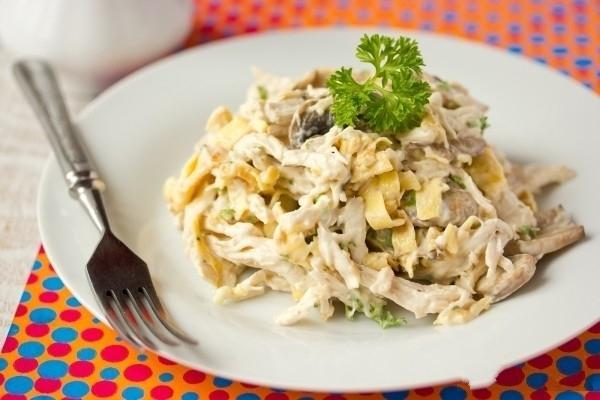 Салат с блинами фото рецепт