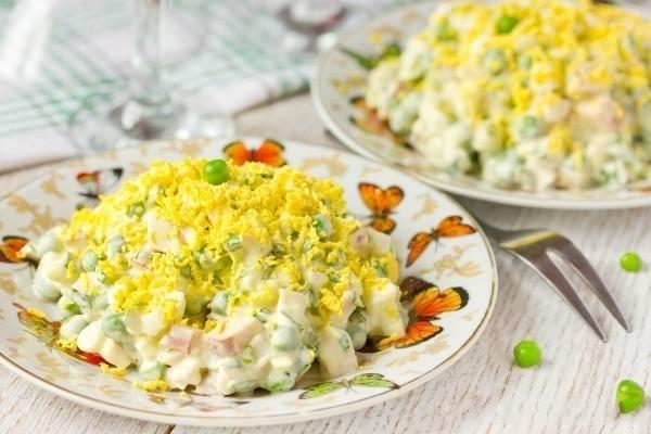 вкусный салат с копченой курицей рецепты