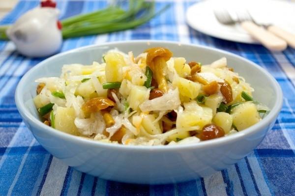 салаты из квашеной капусты рецепты с фото
