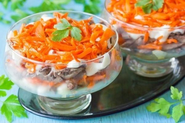 Рецепт салата из свиного сердце
