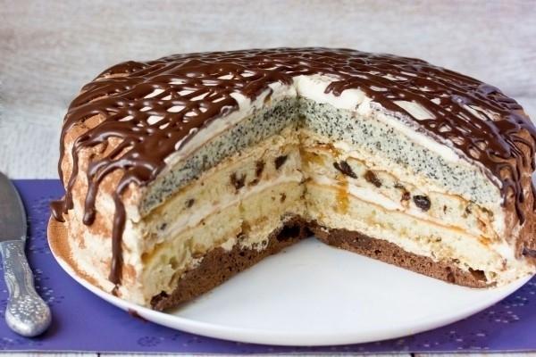 торт живоглот с черносливом рецепт