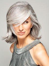 как уложить седые непослушные волосы