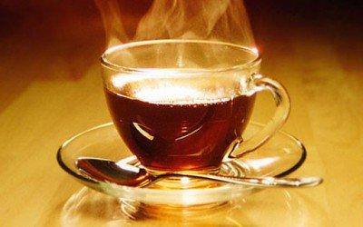 Чай изо рта