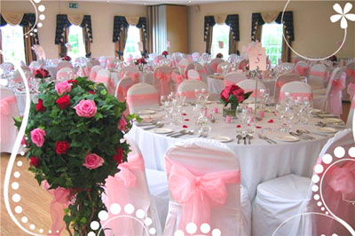 как украсить свадебный зал