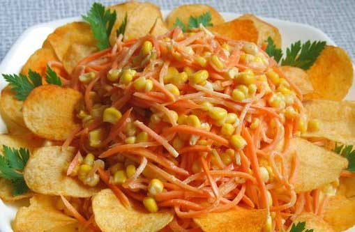 salat s chipsami