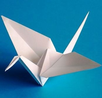 Оригами птичка 90