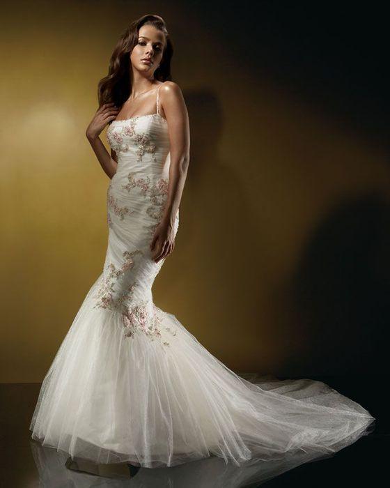 Свадебные платья в форме рыбки фото