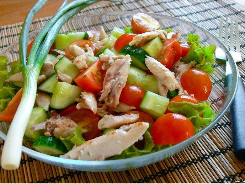Салаты для диеты рецепт с