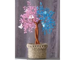 Миниатюрные деревья из бисера