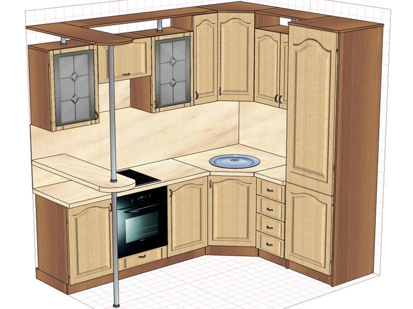 Кухни эконом класса, купить модульную кухню эконом