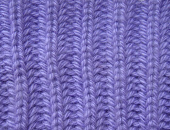 Вязания английской резинки спицами