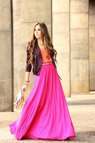 Длинные юбки с чем их носить