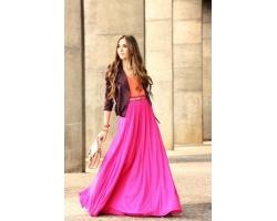 Длинные юбки: с чем их носить?