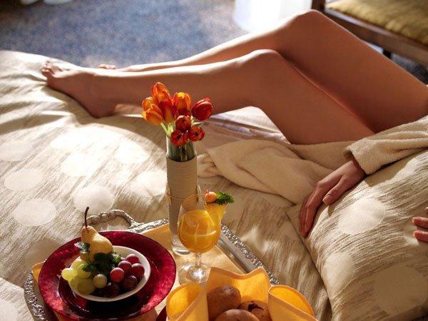 Фото девушек утром завтрак