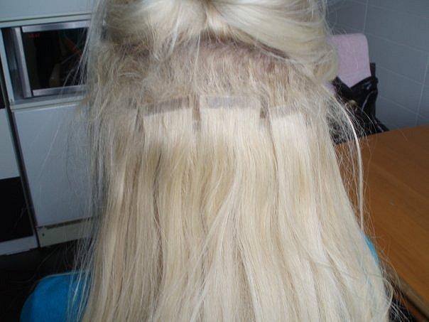 Снять волосы нарощенные волосы жидкостью