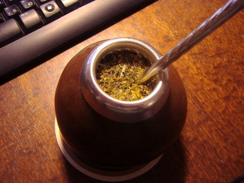 Способ приготовления чая мате