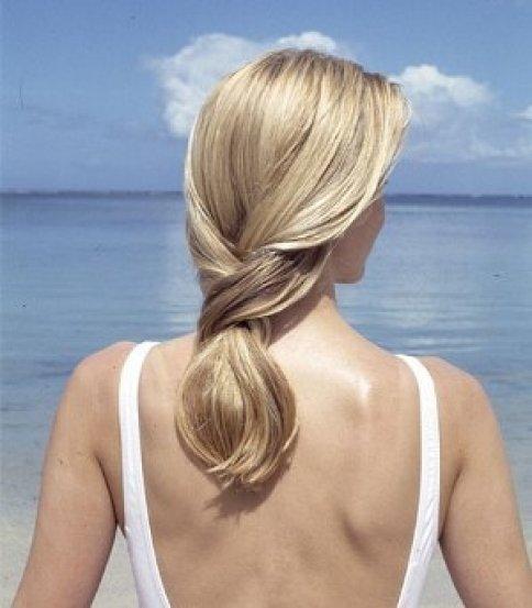 Выгорание волос на солнце фото до после