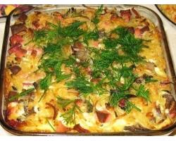 Что можно приготовить из курицы грибов и макарон в