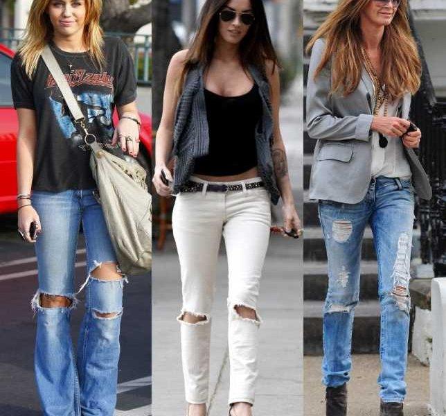 рваные джинсы фото с чем носить
