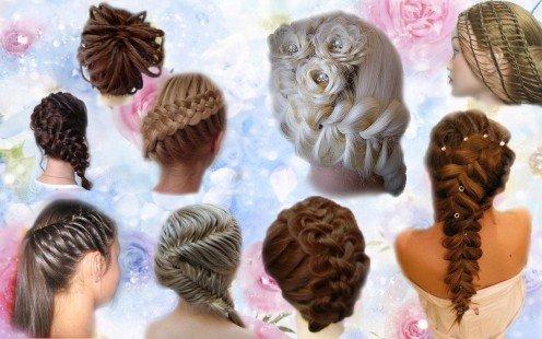 Плетение сеточки из волос
