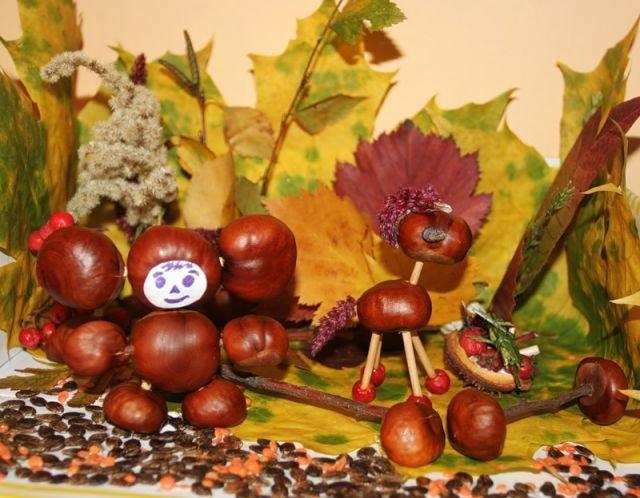 Поделки из природного материала для детского сада 76