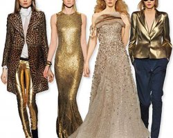 Сочетание золотого цвета в одежде