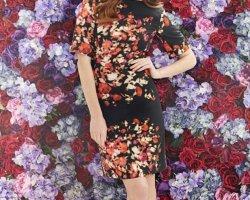 Платья с цветочным принтом 2014 года