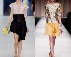Тенденция лета 2014: асимметричные юбки