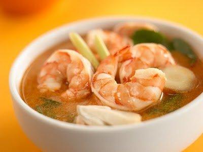 легкий рецепт супа с креветками