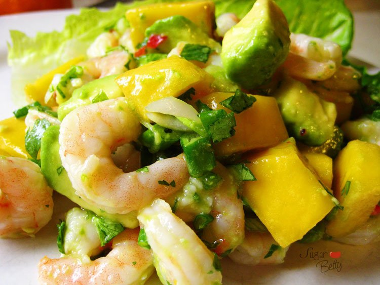 Салат авокадо с креветками рецепт с 7