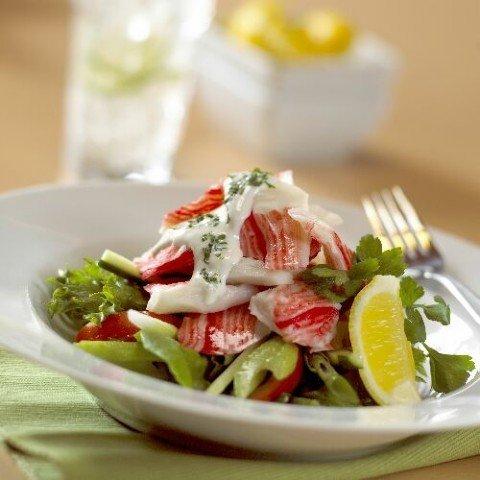 Салат из коктейля морепродуктов рецепт очень вкусный 93