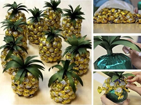 поделки из конфет мастер класс фото