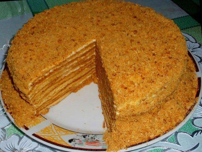 рецепт торта в домашних условиях с фото медовик