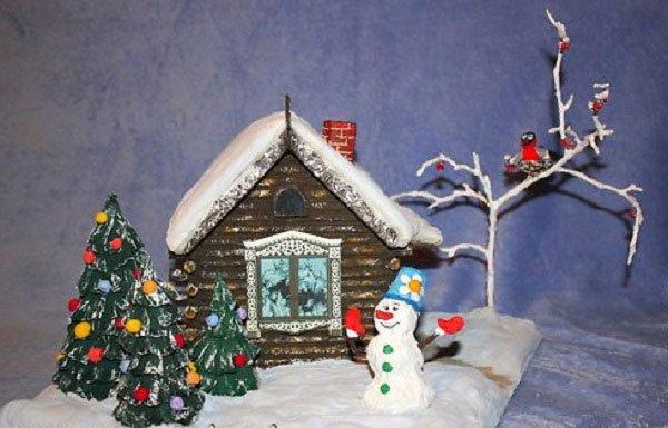 Поделка домик к новому году своими руками
