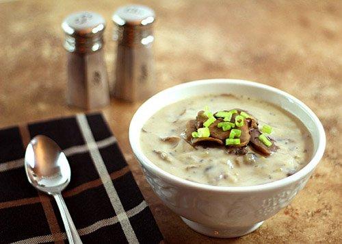 Суп пюре из замороженных шампиньонов со сливками