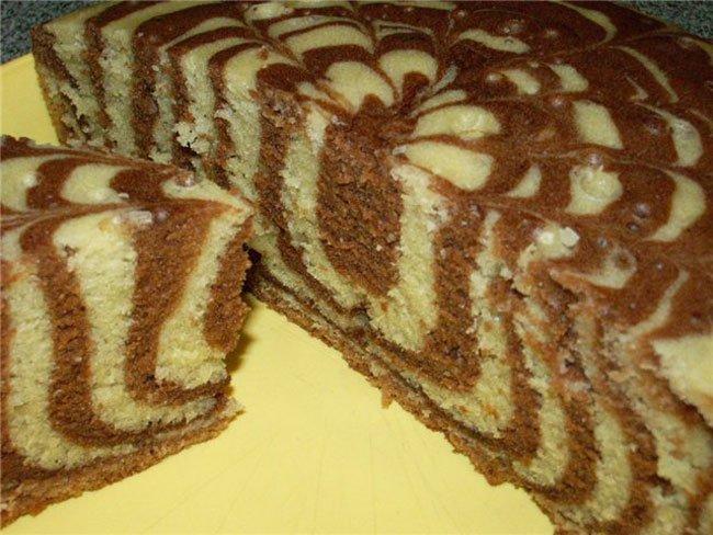 торт зебра рецепты с фото