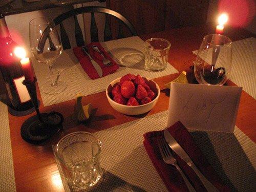 Ужин для любимой в домашних условиях