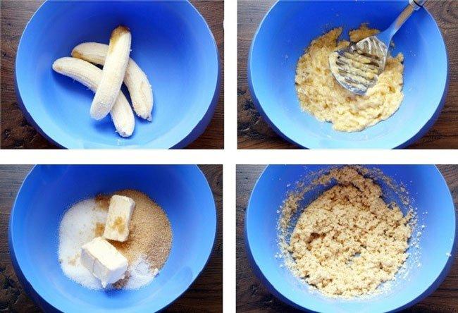 Капкейки с банановой начинкой рецепт с фото пошагово