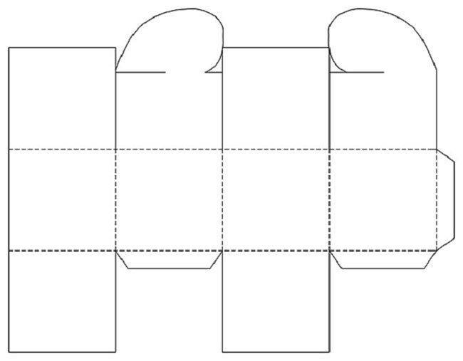 Как сделать из бумаги коробку сердцем схема