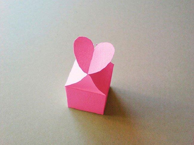 Коробочка сердечко как сделать коробочку из картона фото 742