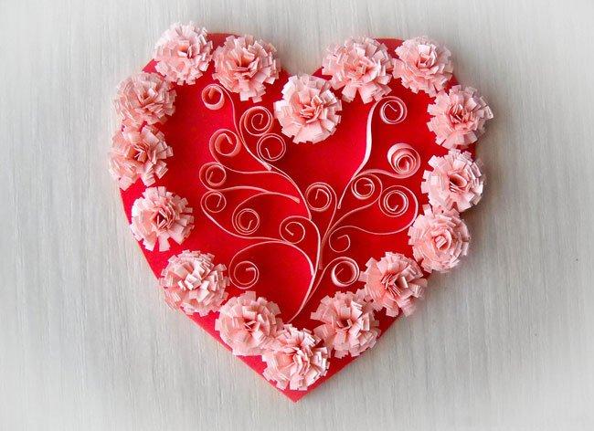 Сделать красивую валентинку своими руками из бумаги