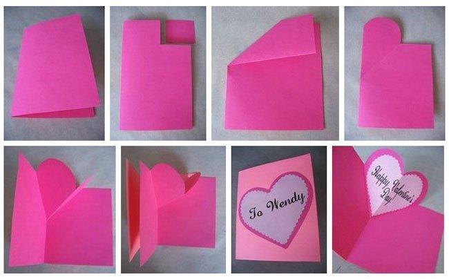 Делать валентинки своими руками из бумаги