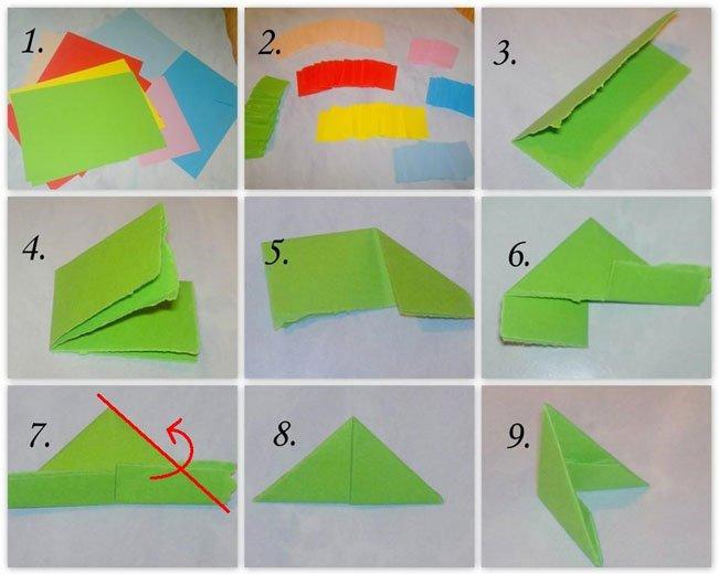 Изготовление оригами пошаговое фото
